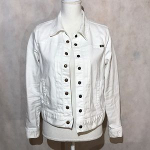 Lucky Brand White Denim Jacket Size Medium
